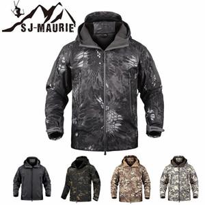 SJ-Maurie Outdoor Homens Tactical Caça jaqueta impermeável velo roupas de caça Pesca Caminhadas Brasão Jacket Inverno