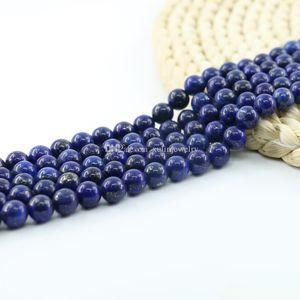 Lapis Lazuli Gemstone Gem Rond Pierre Naturelle Perle Libre 6mm 8mm 10mm 15 Pouces Par Set