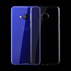 Pour HTC U Jouer 0.75mm Ultra-mince transparent TPU étui de protection