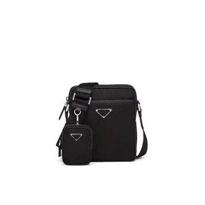 Kostenloser Versand weltweit klassische 2VH112 Luxus-Tasche Doppel Anzug Leinwand Leder Rindsschulterbeutel der Männer hochwertige Handtasche Größe 28cm 24cm 8cm