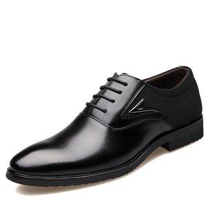Новая 2016 Осень Бизнес ботинок платье венчание палец нога мода Остроконечной обувь из натуральной кожи Квартиры Оксфорд обуви для мужчин