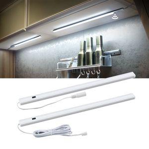 Interrupteur de balayage à la main LED sous l'armoire Cuisine Cuisine Chambre à coucher Chambre à la chambre Armoire Clôture de nuit 30/40 / 50cm LED Bar Light Lampe à domicile intérieur