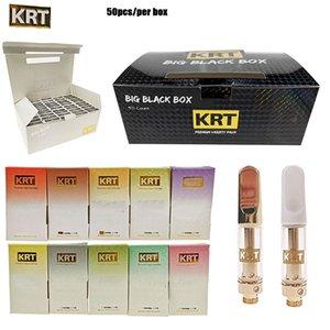 Neueste heiße KRT Cartridge 0,8 ml 1,0 ml KRT Vape Carts Glas Keramik Gold White Top Mit Verpackung Box 510 Threading Leer