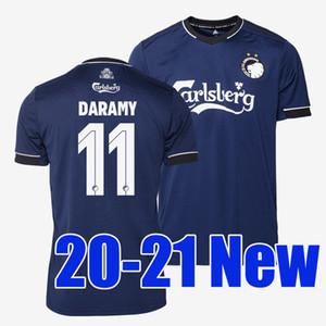 20 21 danesa Copenhague fútbol Jersey 2020 2021 lejos de la marina camisetas de fútbol azul FISCHER SIGURDSSON ZECA N'Doye SKOV uniforme de la camisa de Copenhague