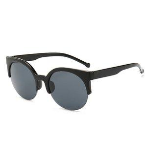COOYOUNG Half Frame Round Sunglasses Women Fashion Sunglasses Vintage Brand Design Ladies Sun Glasses Eyewear UV400
