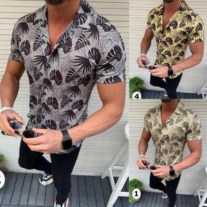 Neck Tops Male Clothing Mens Designer Cardigan Shirts Short Sleeve 3D Print Shirt Men Causal Lapel