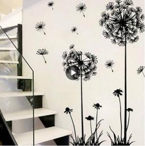 2020 Горячий черный одуванчик наклейки плоскости стены стикеры гостиная спальня стены стикеры бытовые украшения стены