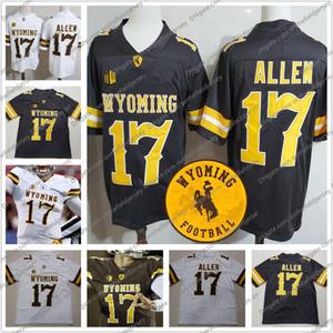 Wyoming Cowboys Trikots # 17 Josh Allen Männer Jugend Frauen Brown White Jersey Günstige Top-Qualität S-XXXL