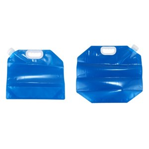 2Pcs Foldable Water Can 5 Liter 10 Liters Blue