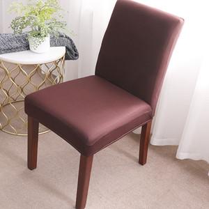 Housse de chaise d'impression solide flexible élastique anti-sale fête de mariage Banquet Décoration Chaise Spandex couverture Meubles