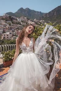 Vestidos De Novia 2019 Cheap Wedding Gowns Simple Appliqued Ruffles Bridal Gowns Sexy Backless Wedding Gowns Robe De Mariage