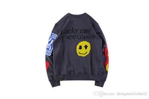 Los fantasmas de diseño de graffiti los niños ven las sudaderas con capucha para hombre Ropa Adolescente sonrisa impresos Jerseys O-cuello