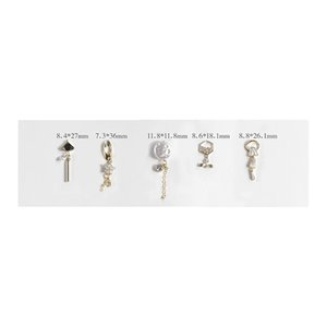 Charms 5pcs Nail Art Perle Gem catena scintillanti linee punte di diamante Glitters