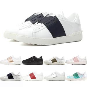 2020 Роскошные дизайнерские платформы белый черный красный Мужчины Женщины кожаные повседневные туфли открытые низкие мужские кроссовки Кроссовки спортивный размер 35-46 z07