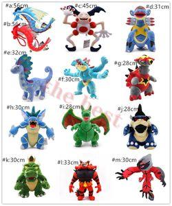 More Styel Gyarados Mr. Mime Armaldo Aurorus Rayquaza Incineroar Yveltal Bowser Turtonator Plush Doll Stuffed Animals Toy Gifts NOPO004