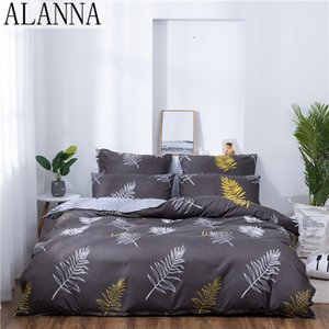 Alanna X-1007 Printed Solid bedding sets Home Bedding Set 4-7pcs High Quality Lovely Pattern with Star tree flower T200706