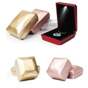 Wedding Jewelry display caso di immagazzinaggio di fidanzamento anello dell'orecchino di monili pendente con le donne regalo luci a LED