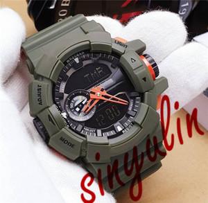 de Homens de Ouro Preto Verde Rubber Exército Strap Sports Watch Luxo Sports Brand Watch GA New direto Venda 400 Alarm Clock impermeável Sport Watch