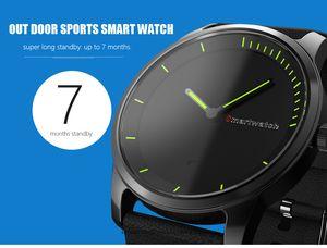 El más nuevo S68 pantalla redonda Smart Bluetooth 4.0 reloj cuarzo cargable IP68 impermeable reloj para IOSAndriod