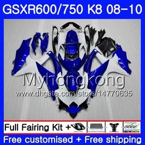 عدة لسوزوكي GSXR 750 600 GSX-R750 GSXR600 2008 2009 2010 hot blue frame 297HM.55 GSX R600 R750 600CC GSX-R600 K8 GSXR750 08 09 10 Fairing
