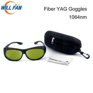 إرادة فان 1064nm YAG والألياف بالليزر آلة نظارات السلامة Stly C واقية نظارات استخدام لمحل العمل