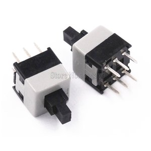 100Pcs 8.5*8.5mm Double Row No Locked Switch Push button switch key switch 6Pin