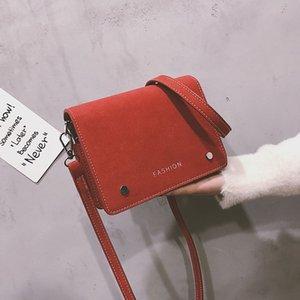 ABAY Handbags Vintage Women's Shoulder Bags Women's Bag Female Bags Crossbody Handbag Lock Chain Frosted Leather