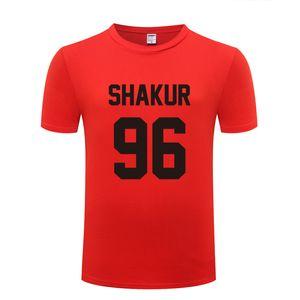 Musica Rock Tupac 2PAC Shakur 96 Stampa Uomo T Shirt Hip Hop T-Shirt Uomo Cotone Manica Corta Uomo Streetwear Top Tee Shirt Homme