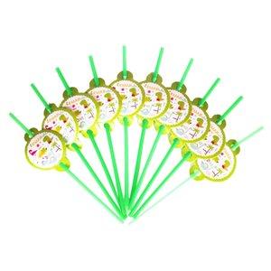 Dinosaur 10pcs / Set Straw Party Decoration Disposable Tableware Palhinhas MENINO Party Supplies fontes do aniversário outra parte do evento