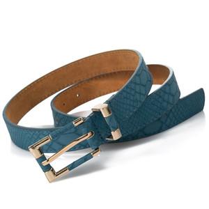 Correias New Mulheres Belts Moda Crocodile Punk Cintura Fina Belt Feminino Segundo couro