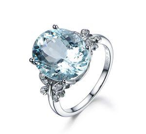 Charme Bijoux Bleu Anneaux pierre pour femmes claires papillon cristal accessoires Anneaux de soirée de mariage cadeau femme bague