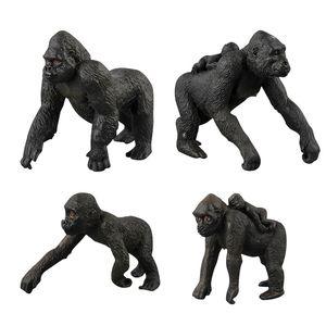 Children Model Zoo Toy Model Wild Animal World Set Chimpanzees a Cross Border Hot Sales