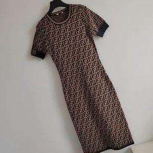 2020 de lujo de las mujeres del vestido señoras de la manera Bodycon vestidos del lápiz mujeres de la marca del club del partido del vestido del verano atractivo FF Carta vestidos 2020772K