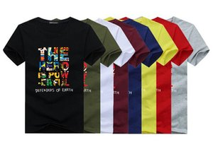 Men's Tops Tees summer new cotton O-neck short sleeve t shirt men fashion trends fitness tshirt free shipping size 5XL BY9