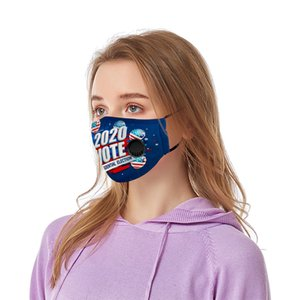 Trump 2020 breather valve Mask no filter America US President Election Vote Washable Outdoor Anti Dust Mouth Face Masks Respirator LJJA4132