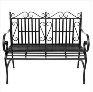 Envío libre al por mayor de 2 Asientos plegable al aire libre del jardín del patio Bench Seat Porche Silla con marco de acero de construcción sólida
