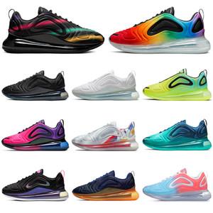 Nike air max 720 720s Дизайнерские разноцветные кроссовки для мужчин и женщин Be True Pride тройной черный закат Volt Northern Lights мужские кроссовки спортивные кроссовки