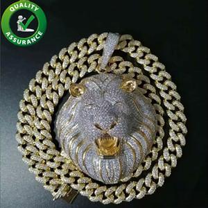 Hip Hop Bling Chains Jewelry Men Iced Out Pendant Luxury Designer Necklace Mens Gold Chain Pendants Diamond Cuban Link Rapper Hiphop Lion DJ