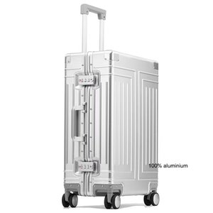 "Rolling Luggage Carrylove 20""24\""26\""29\"" inch aluminum trolley suitcase waterproof metallic cabin luggage trolly bag with wheels"