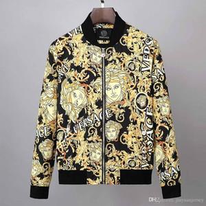 Brasão Sunscreen Casual Mens Clothing Casacos Men Jacket Tops com letra impressa lapela com capuz preto Windbreaker Streetwear M-XXXL