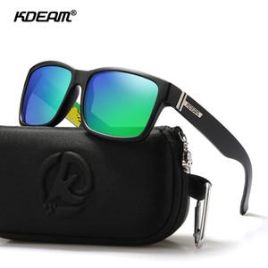 KDEAM polarizada Sport Sunglasses Homens Mulheres Proteção UV Praça Sun Óculos para Baseball Driving Correndo Pesca Golfe Y200619