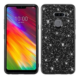 Chapeamento Glittery pó à prova de choque TPU capa para LG G8 thinq