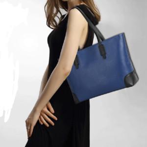 Designer-borse big bag primo strato tracolla atmosfera borse di colore di contrasto di modo semplice bovina