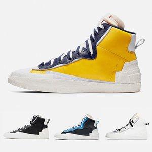 Sacai X Blazer Mid ile Dunk Erkek Casual Ayakkabı Koşu Yüksek Cut Beyaz Gri Siyah Üniversitesi Mavi Varsity Mısır spor ayakkabı 36-45