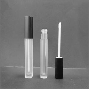 Tubo de brilho labial vazio 5 ML Recipiente de brilho labial maquiagem recipiente de óleo labial Tubos de plástico quadrado epacket
