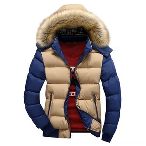 2020 Brand New Winter Jacket Men's Outerwear & Coats Men's Clothing Men Warm Down Jacket 9 Color Fashion Brand With Fur Hood Hat Men Outwear