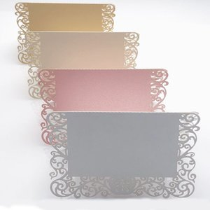 50pcs Pearlescent Lace Name Place Cards Wedding Decoration Table Decor Table Name Message Greeting Card Event Party Supplies