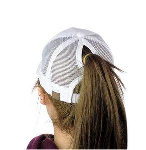 Ponytail Baseball Cap Women Adjust Sport Casual Messy Bun Snapback Mesh Hat Casual Adjustable Sport Caps Drop Shipping 2019 New
