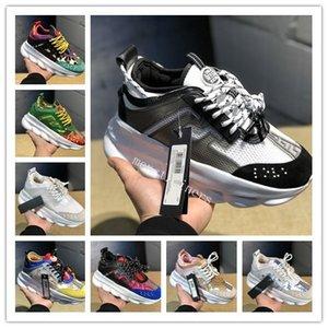 2020 casuale del progettista della piattaforma di modo delle donne degli uomini delle scarpe da tennis multi colore Giallo Navy Triple nero floreale formato 2.0 Chainz Plaid Schuhe 36-45