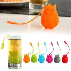 Cute Owl Teesieb Food Grade Silikon Fliter Sieb Teebeutel Kreative ungeheftetes Teesieb Filter Diffusor 6 Farben DBC BH3781